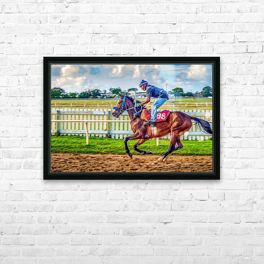 Racehorse09 HD Sublimation Metal print with Decorating Float Frame (BOX)