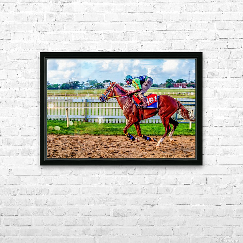 Racehorse10 HD Sublimation Metal print with Decorating Float Frame (BOX)