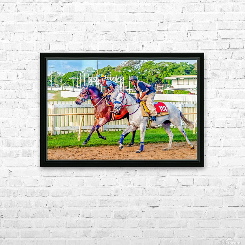 Racehorse08 HD Sublimation Metal print with Decorating Float Frame (BOX)