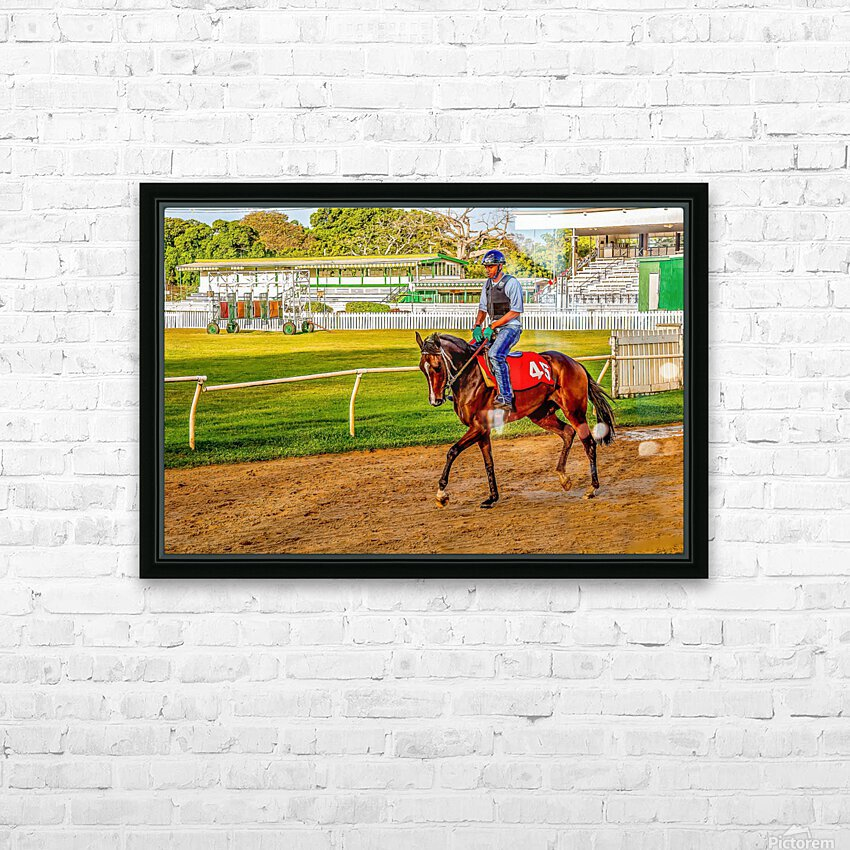 Racehorse03 HD Sublimation Metal print with Decorating Float Frame (BOX)