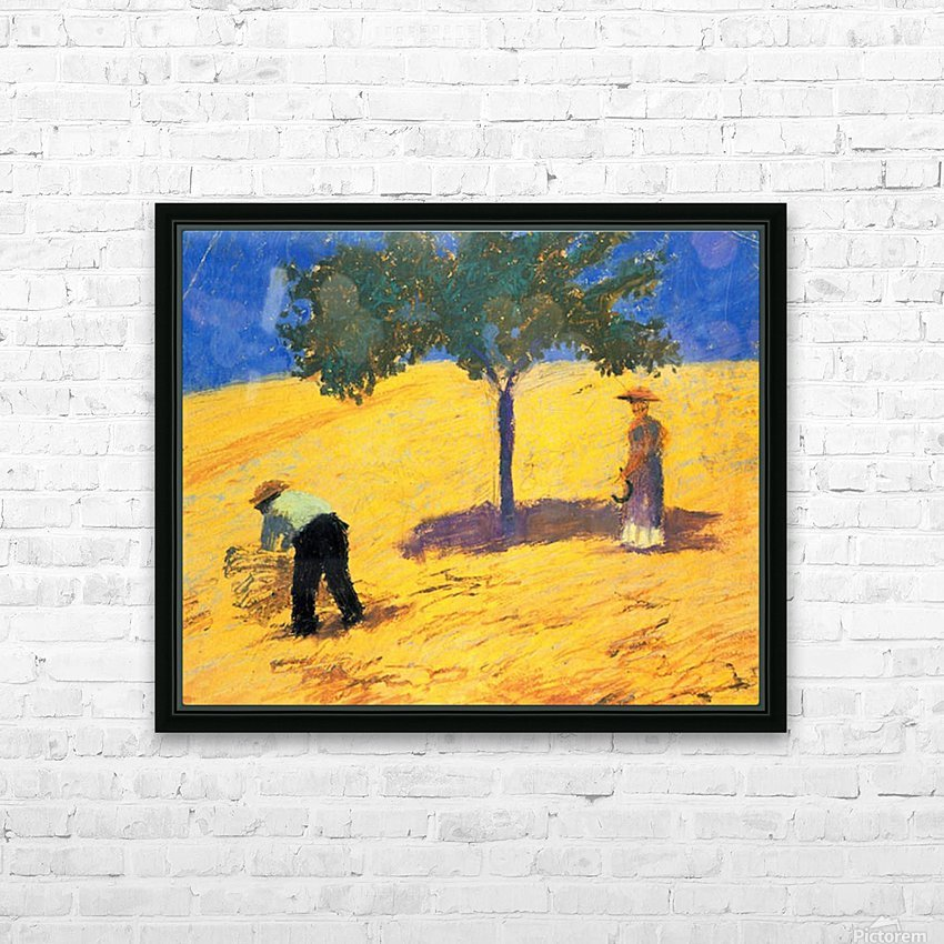 Tree in Cornfeld by Macke HD Sublimation Metal print with Decorating Float Frame (BOX)