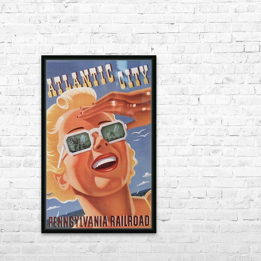 Atlantic City Pennsylvania Railroad Original Poster HD Sublimation Metal print with Decorating Float Frame (BOX)
