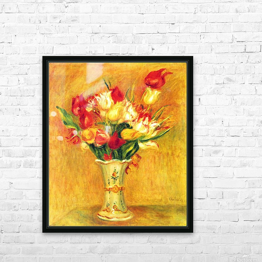 Tulips in a Vase HD Sublimation Metal print with Decorating Float Frame (BOX)