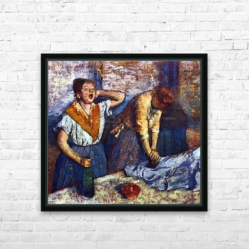 Two cleaning women by Degas HD Sublimation Metal print with Decorating Float Frame (BOX)