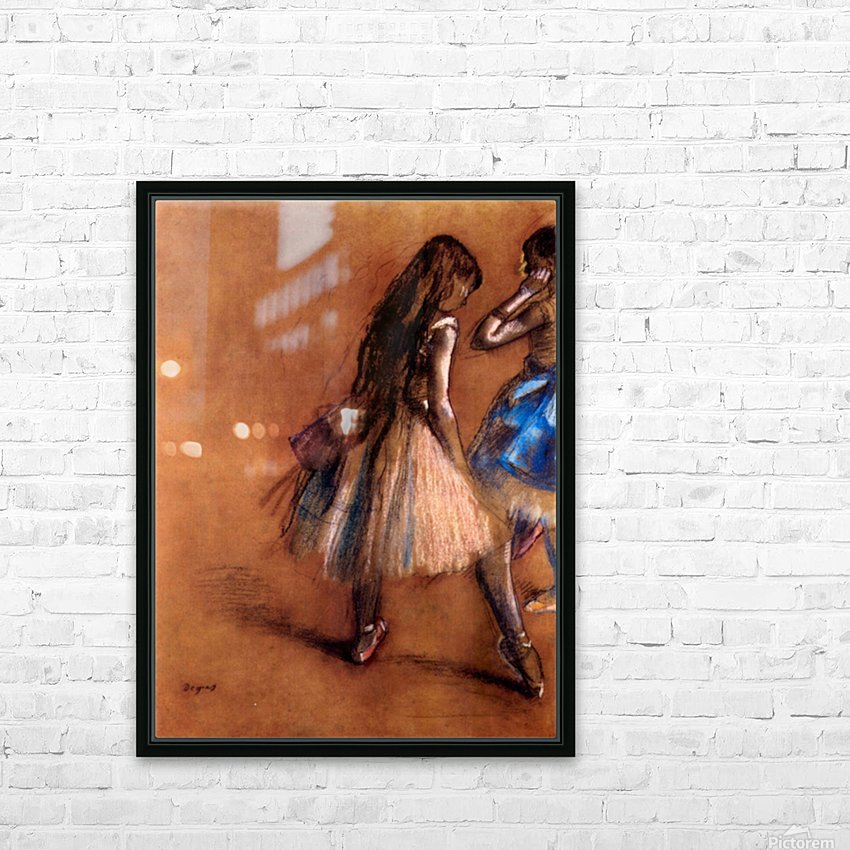 Two dancers 1 by Degas HD Sublimation Metal print with Decorating Float Frame (BOX)