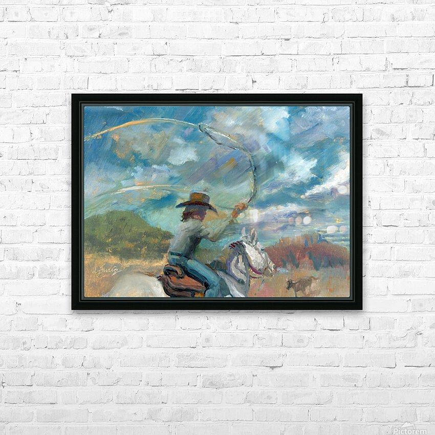 Ride Em Cowboy HD Sublimation Metal print with Decorating Float Frame (BOX)