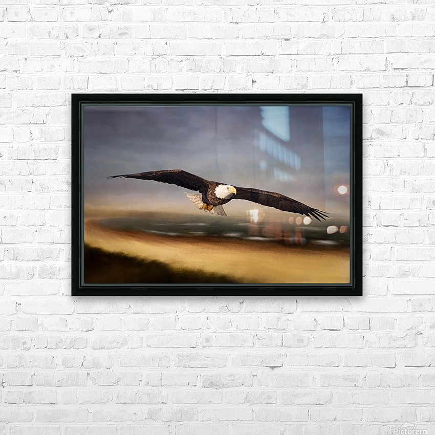 Raptor Skies HD Sublimation Metal print with Decorating Float Frame (BOX)
