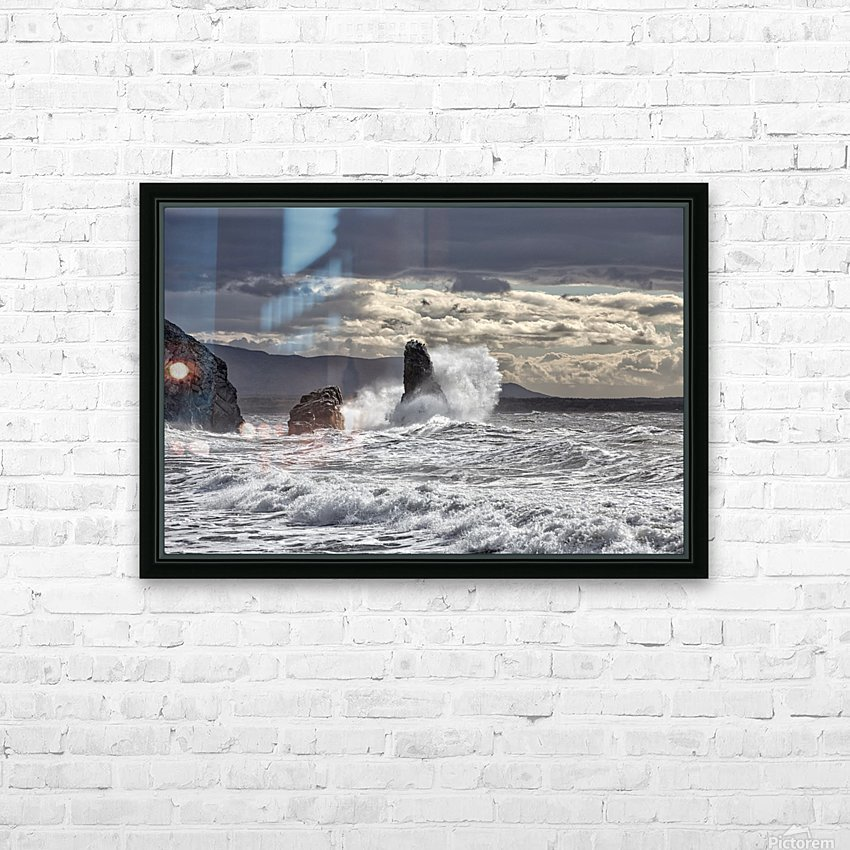 Pillar Rock Drama HD Sublimation Metal print with Decorating Float Frame (BOX)