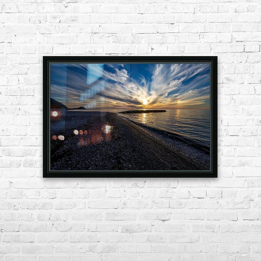 La Bloc Sunset HD Sublimation Metal print with Decorating Float Frame (BOX)
