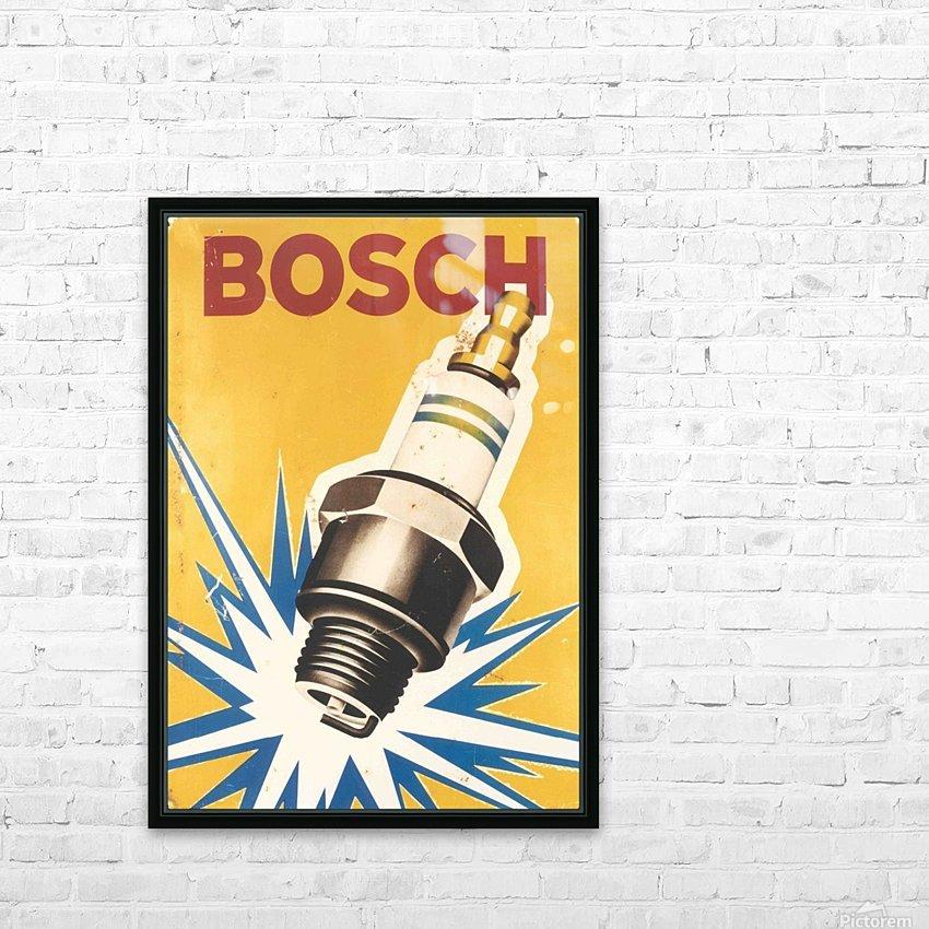 Vintage Bosch Spark Plug Automobile HD Sublimation Metal print with Decorating Float Frame (BOX)