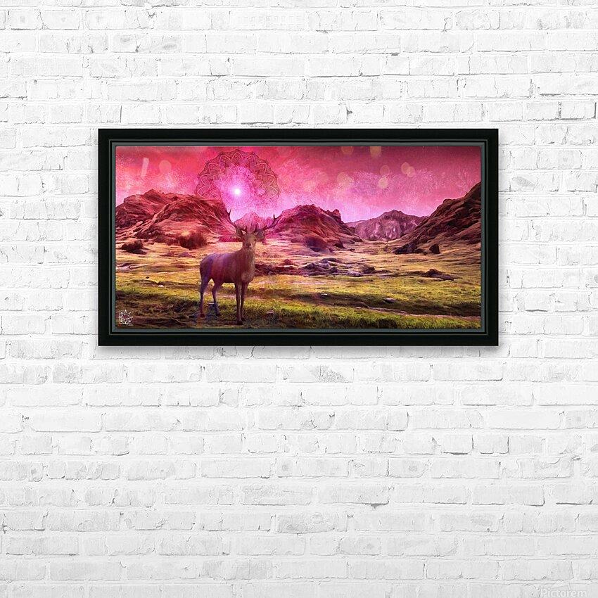 Eikthyrnir HD Sublimation Metal print with Decorating Float Frame (BOX)