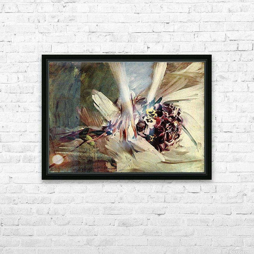 The Pansy by Giovanni Boldini HD Sublimation Metal print with Decorating Float Frame (BOX)