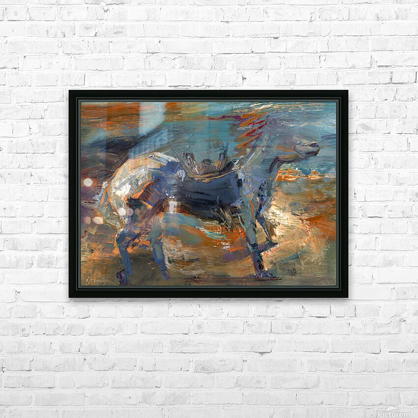 Ghost Rider - Titian HD Sublimation Metal print with Decorating Float Frame (BOX)