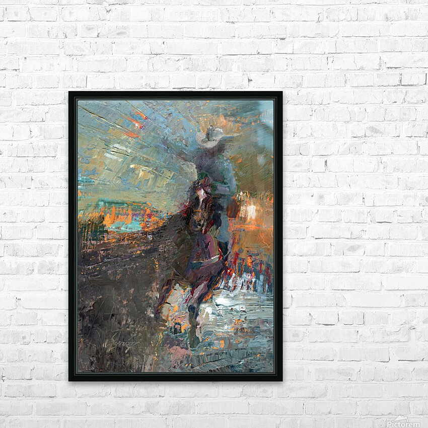 Wild Wild West HD Sublimation Metal print with Decorating Float Frame (BOX)
