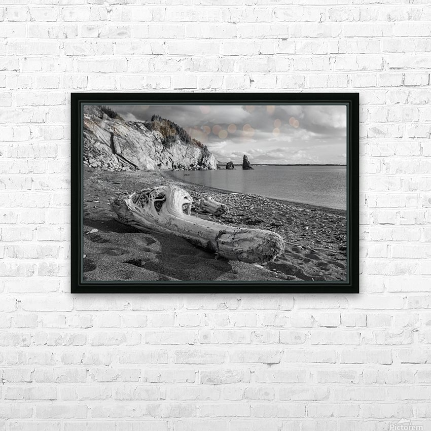 La Presqu'ile in black and white HD Sublimation Metal print with Decorating Float Frame (BOX)