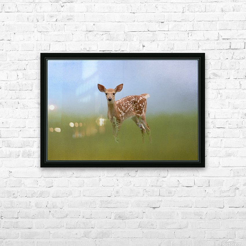 Spotty the Fawn HD Sublimation Metal print with Decorating Float Frame (BOX)