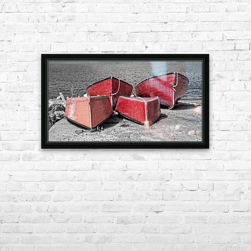 Red Dorries HD Sublimation Metal print with Decorating Float Frame (BOX)
