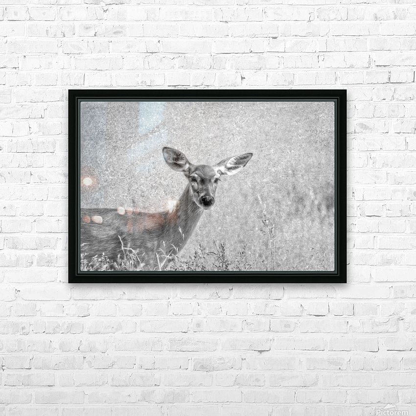 Pretty Doe HD Sublimation Metal print with Decorating Float Frame (BOX)