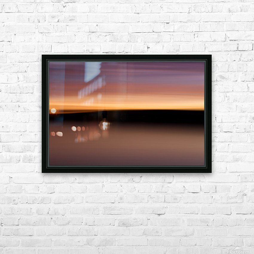Sunset Motion HD Sublimation Metal print with Decorating Float Frame (BOX)