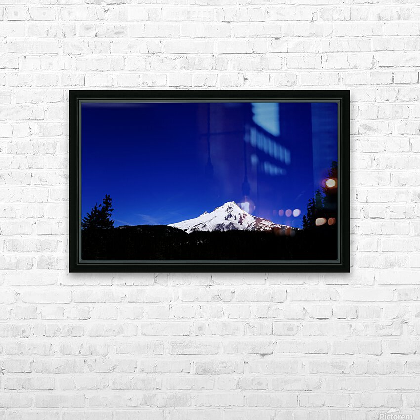 Mount Hood in the Waning Light of Day - Oregon Columbia River Gorge HD Sublimation Metal print with Decorating Float Frame (BOX)