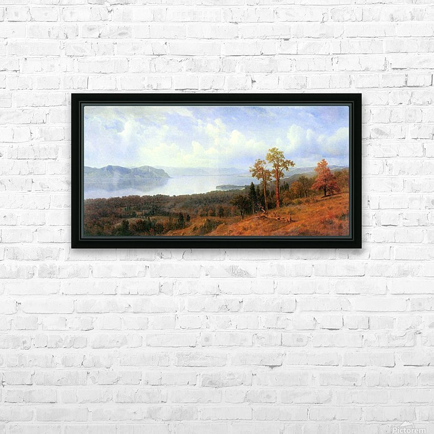 View of the Hudson River Vally by Bierstadt HD Sublimation Metal print with Decorating Float Frame (BOX)