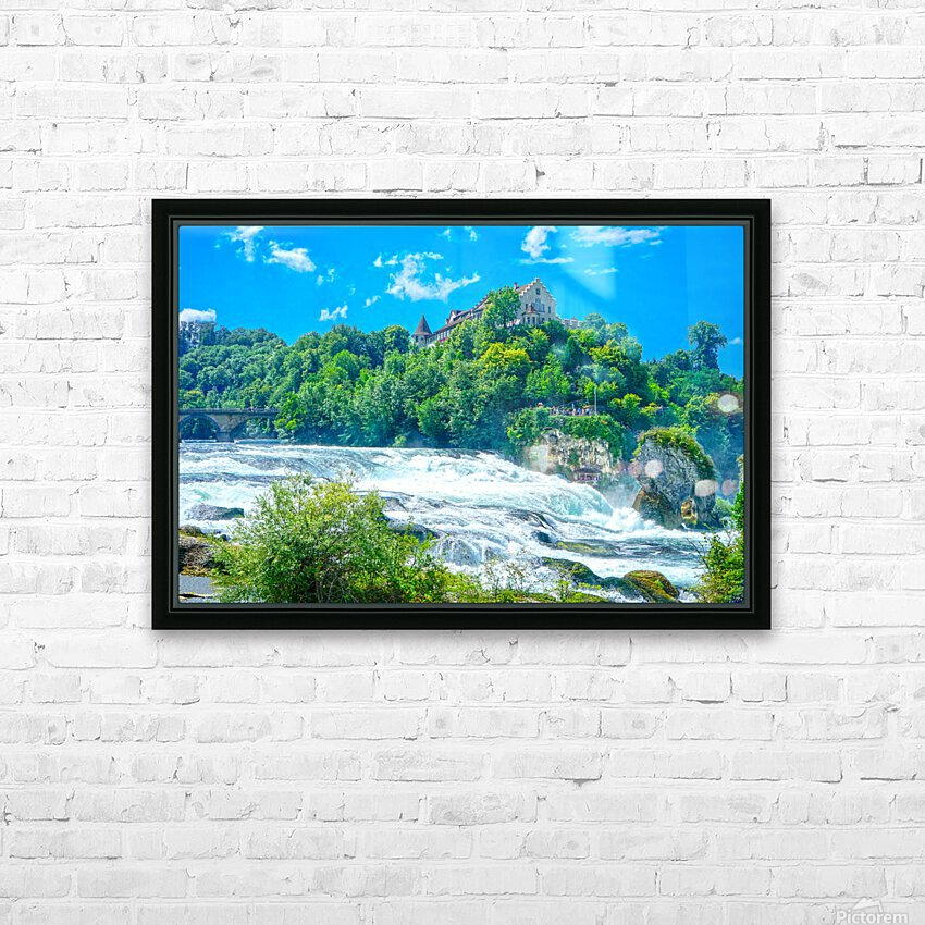 Perfect Day at Rhine Falls Switzerland HD Sublimation Metal print with Decorating Float Frame (BOX)