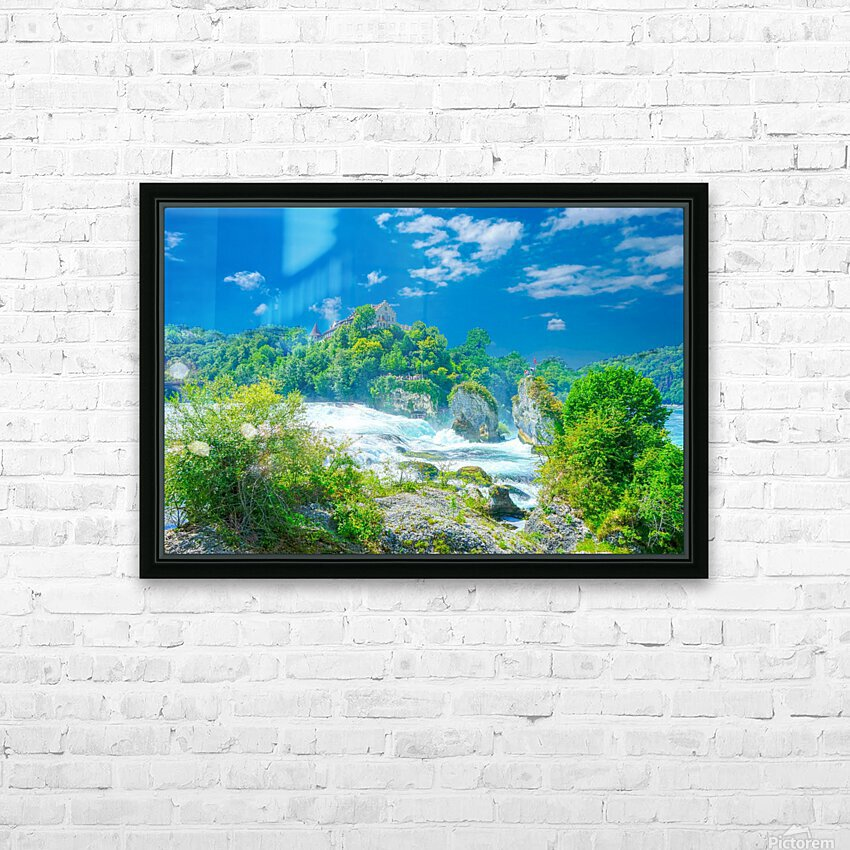 Beautiful Day at Rheinfall Switzerland 1 of 2 HD Sublimation Metal print with Decorating Float Frame (BOX)