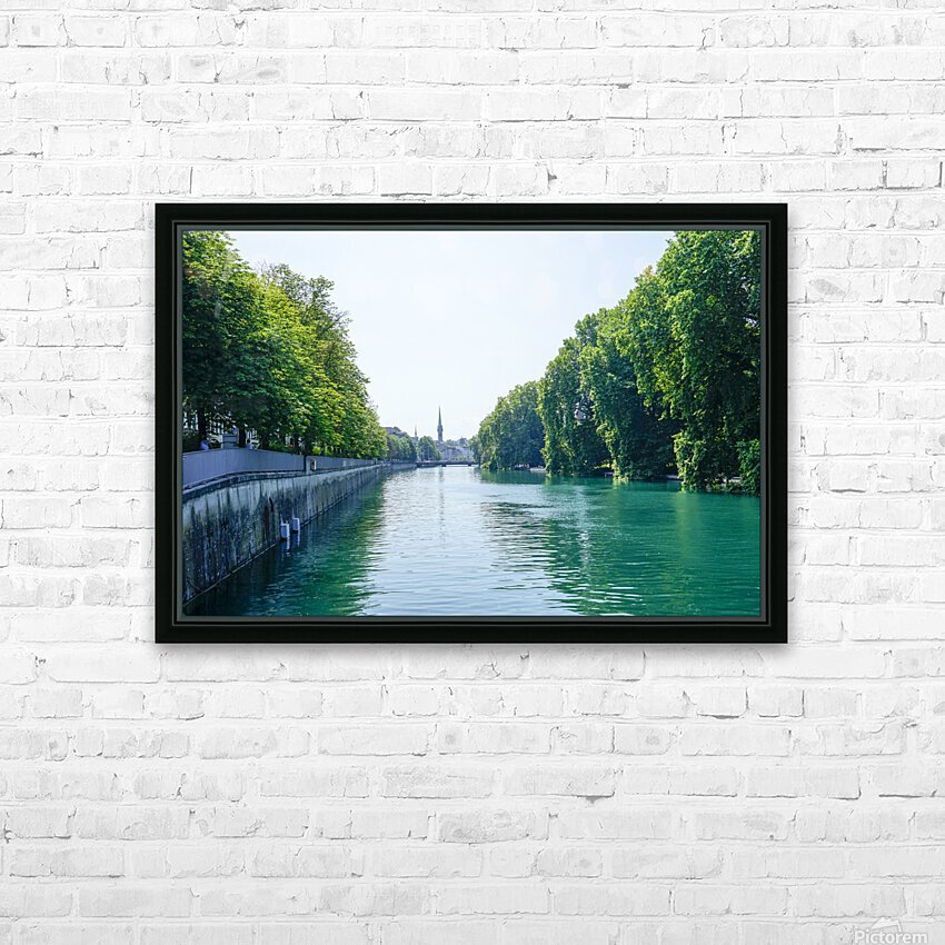 Snapshot in Time Zurich in Summer 1 of 6 HD Sublimation Metal print with Decorating Float Frame (BOX)