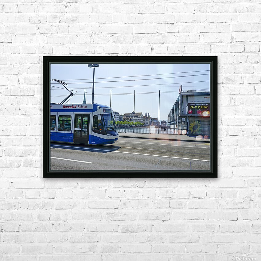 Snapshot in Time Zurich in Summer 4 of 6 HD Sublimation Metal print with Decorating Float Frame (BOX)