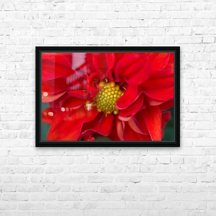Red and Yellow HD Sublimation Metal print with Decorating Float Frame (BOX)