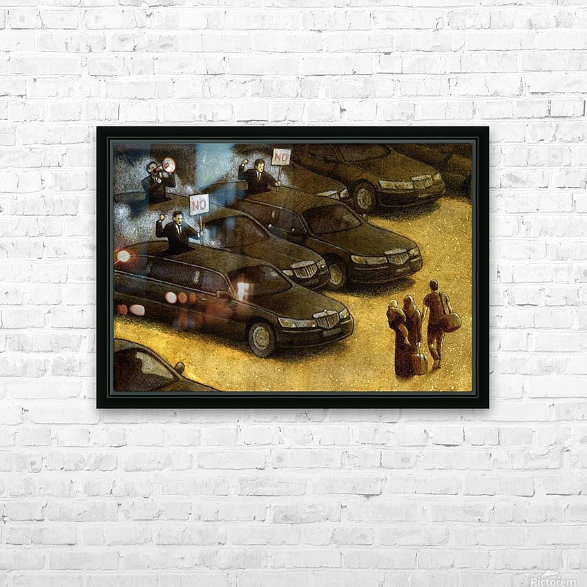 unrest HD Sublimation Metal print with Decorating Float Frame (BOX)