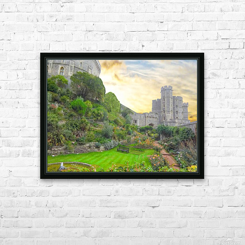 Windsor Castle at Sunset HD Sublimation Metal print with Decorating Float Frame (BOX)
