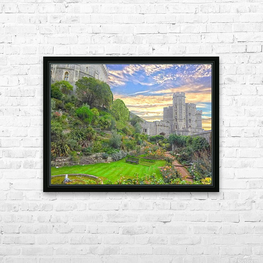 Windsor Castle England 1 of 2 HD Sublimation Metal print with Decorating Float Frame (BOX)