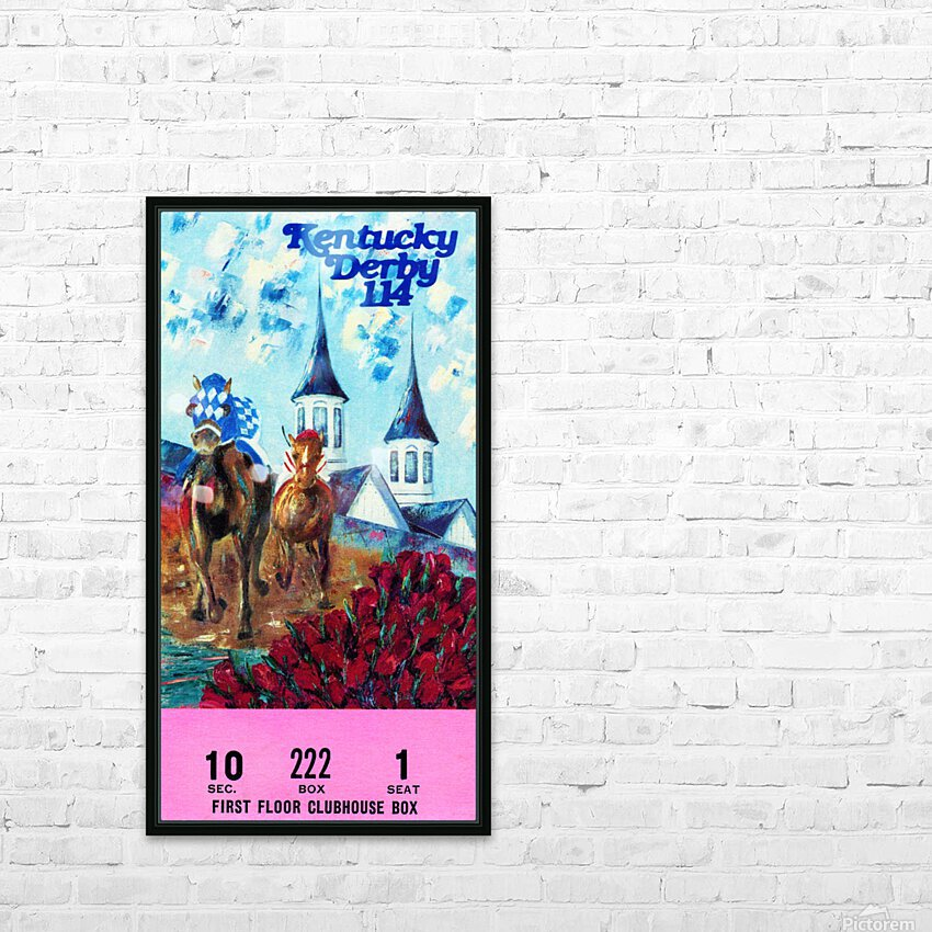1988 Kentucky Derby Ticket Stub Canvas  HD Sublimation Metal print with Decorating Float Frame (BOX)