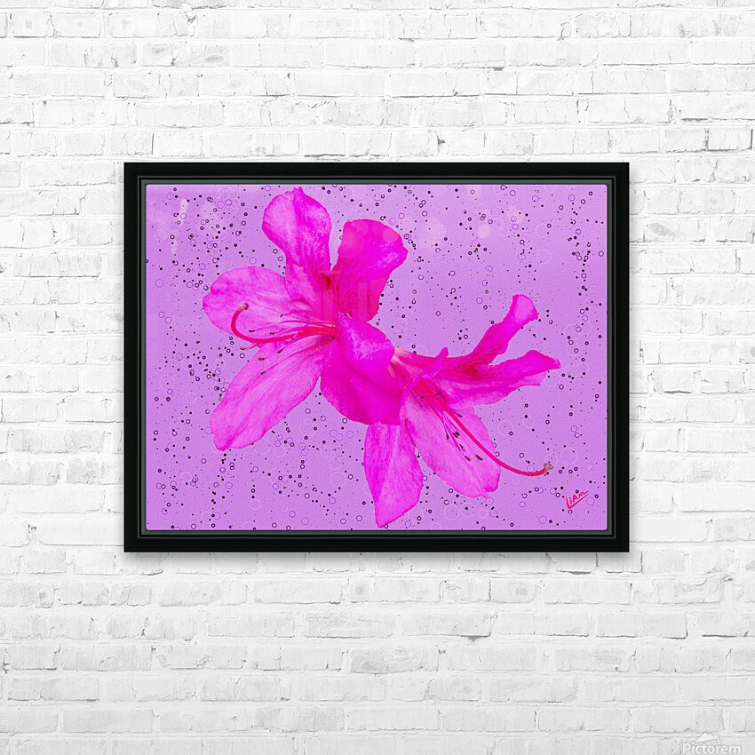 Think Pink HD Sublimation Metal print with Decorating Float Frame (BOX)