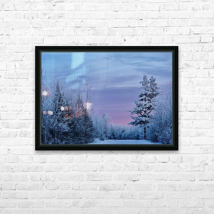 Winter Wonderland  HD Sublimation Metal print with Decorating Float Frame (BOX)