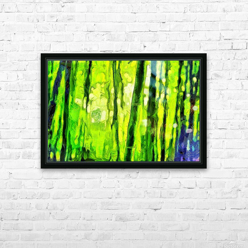 Bamboo forest oil painting inVincent Willem van Goghstyle. 3.  HD Sublimation Metal print with Decorating Float Frame (BOX)
