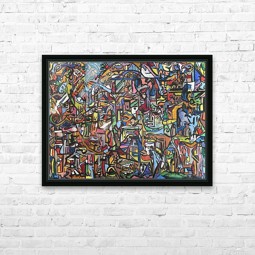 Dissociation HD Sublimation Metal print with Decorating Float Frame (BOX)