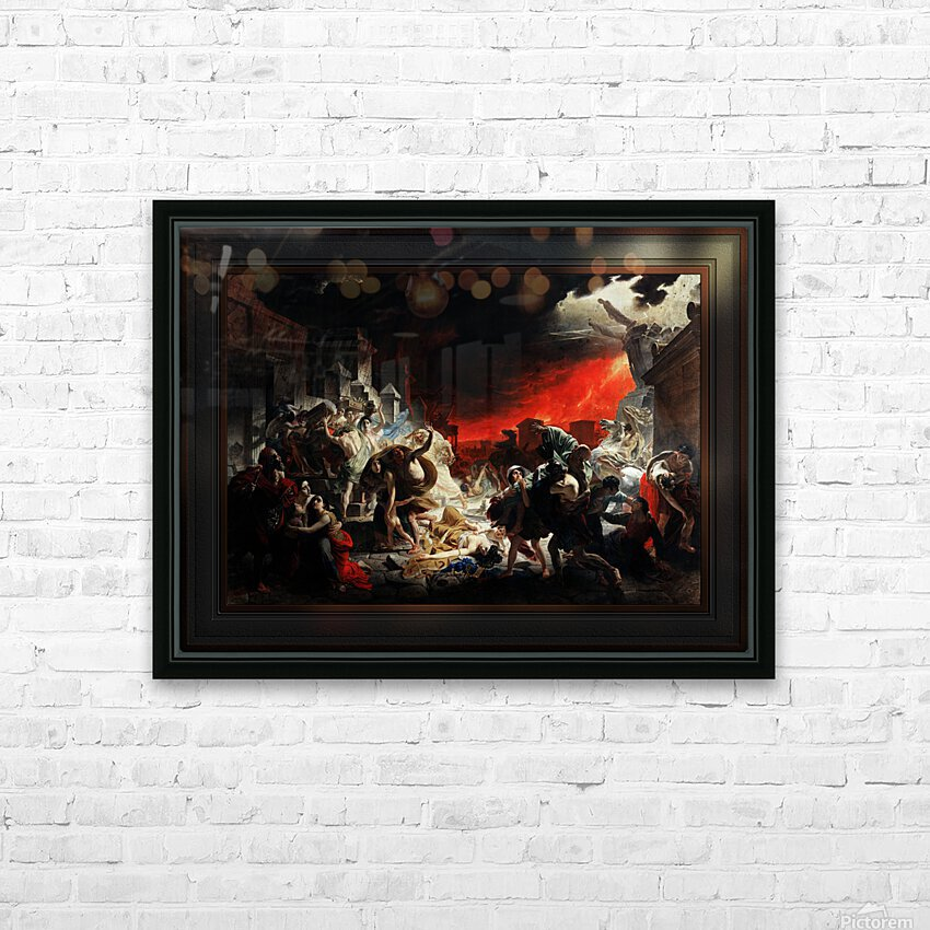 The Last Day of Pompeii by Karl Bryullov Classical Fine Art Xzendor7 Old Masters Reproductions HD Sublimation Metal print with Decorating Float Frame (BOX)
