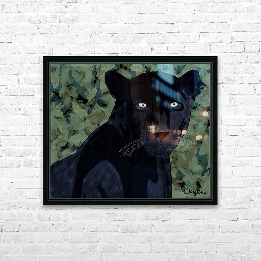 Black Jaguar. Clayton T HD Sublimation Metal print with Decorating Float Frame (BOX)