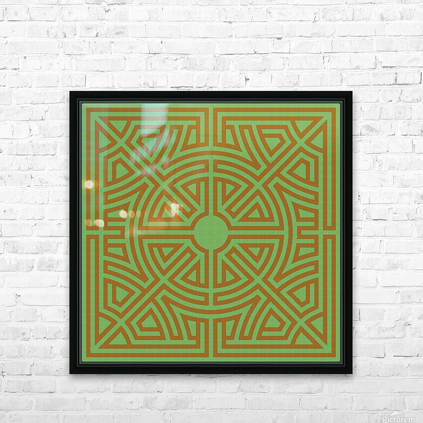 Labyrinth 6001 HD Sublimation Metal print with Decorating Float Frame (BOX)