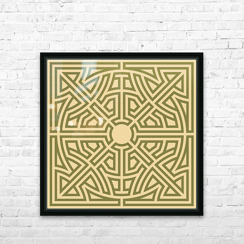 Labyrinth 6002 HD Sublimation Metal print with Decorating Float Frame (BOX)