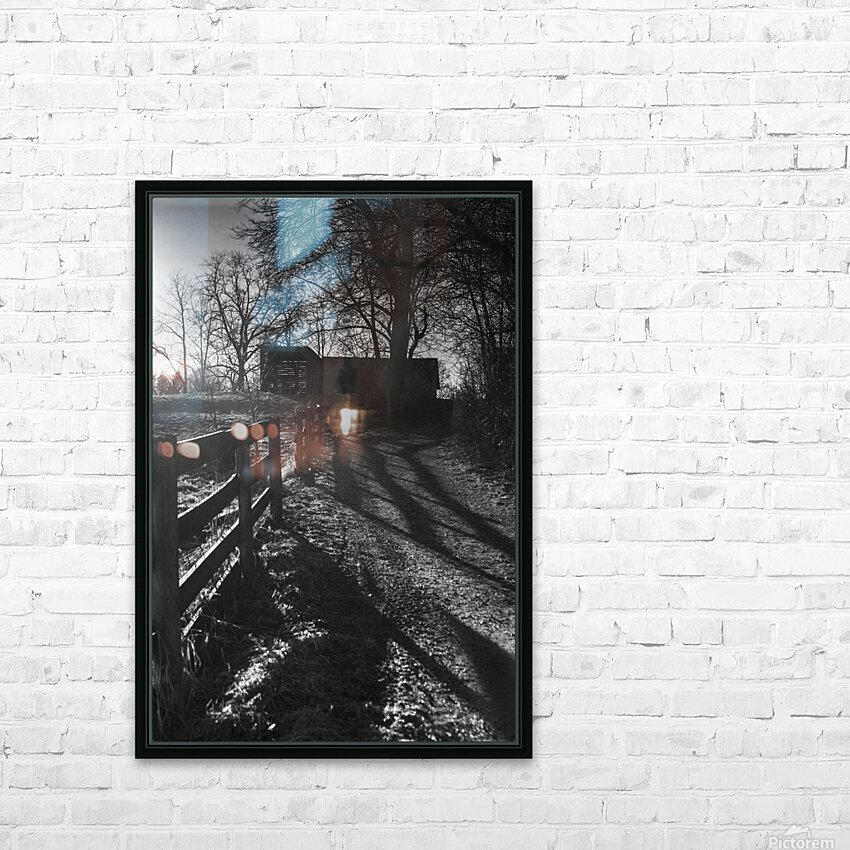 Barn at Sunset HD Sublimation Metal print with Decorating Float Frame (BOX)