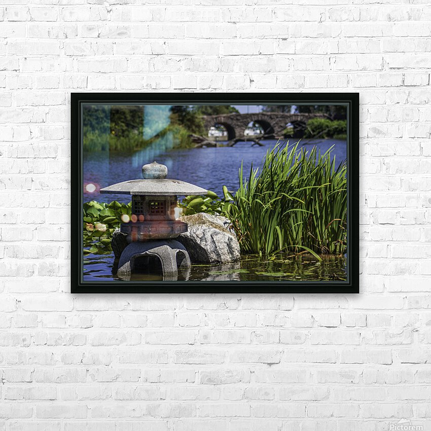 Pagoda in the Park HD Sublimation Metal print with Decorating Float Frame (BOX)