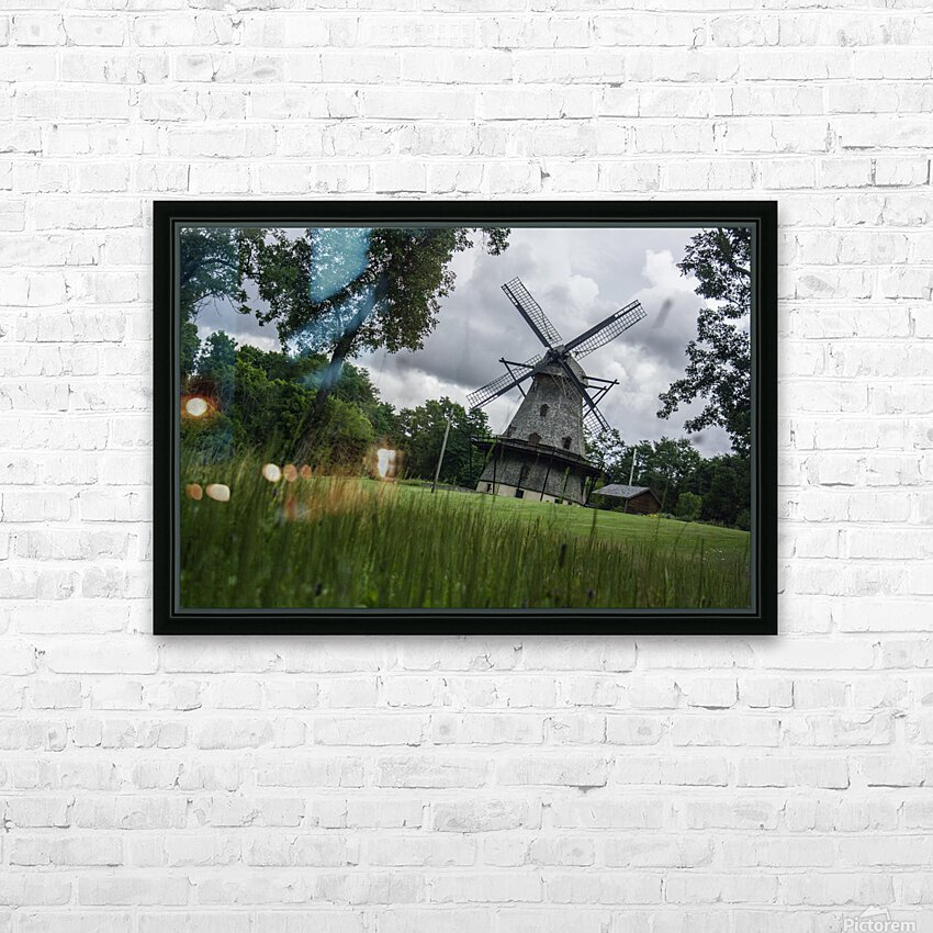 Windmill in a Storm HD Sublimation Metal print with Decorating Float Frame (BOX)