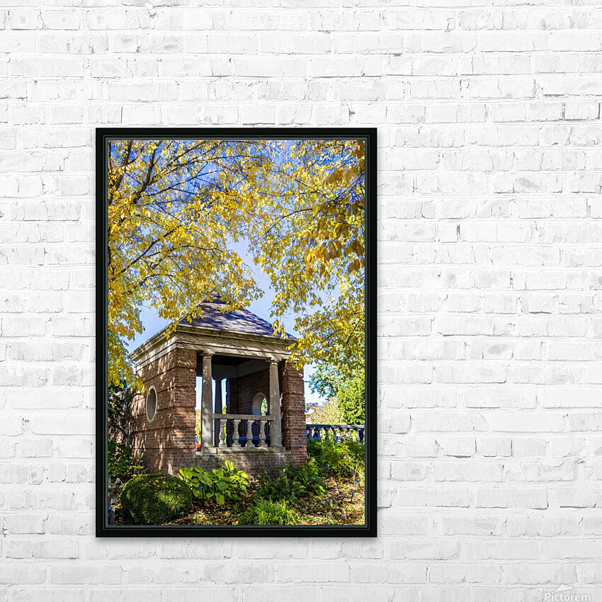 Shelter in the Fall HD Sublimation Metal print with Decorating Float Frame (BOX)