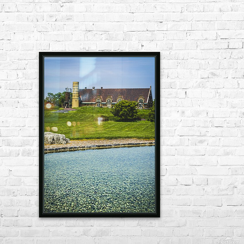 Quiet Space in the City HD Sublimation Metal print with Decorating Float Frame (BOX)