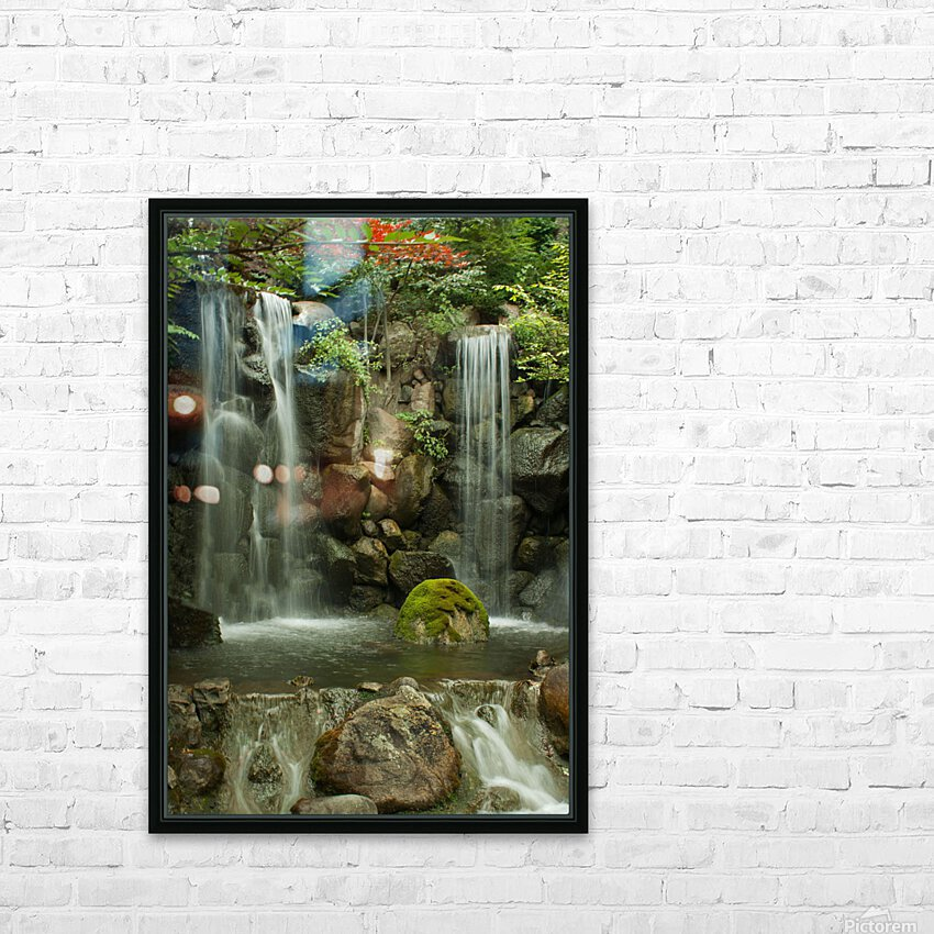 Japanese Waterfalls HD Sublimation Metal print with Decorating Float Frame (BOX)