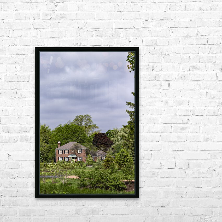 House in the Woods HD Sublimation Metal print with Decorating Float Frame (BOX)