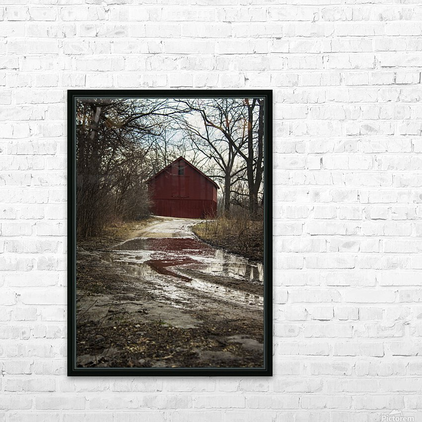 Travel to the Red Barn HD Sublimation Metal print with Decorating Float Frame (BOX)